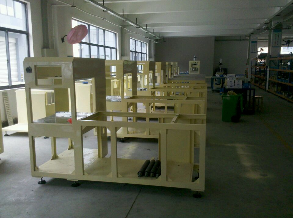 Our company standard automatic high frequency plastic welding machine batch production